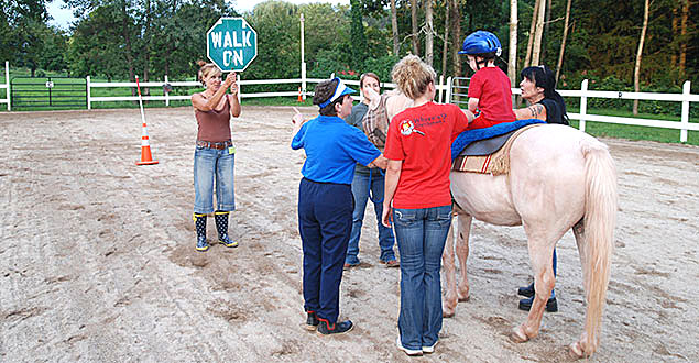 horse therapy photo